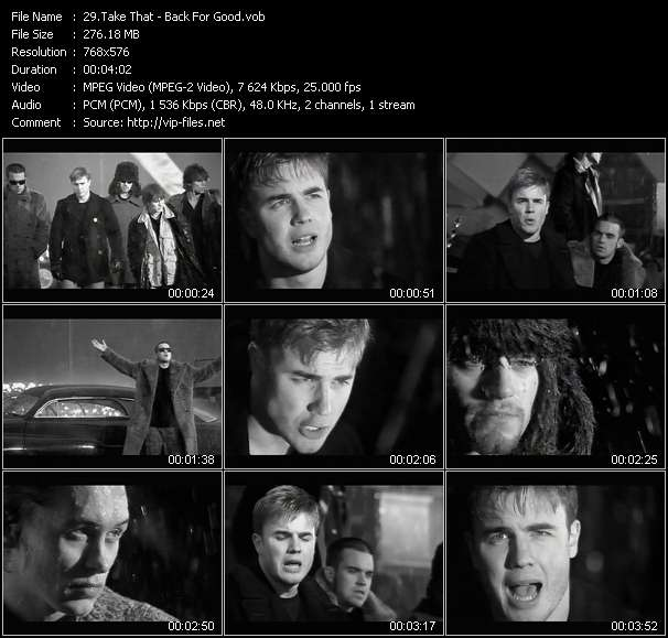 Take That HQ Videoclip «Back For Good»