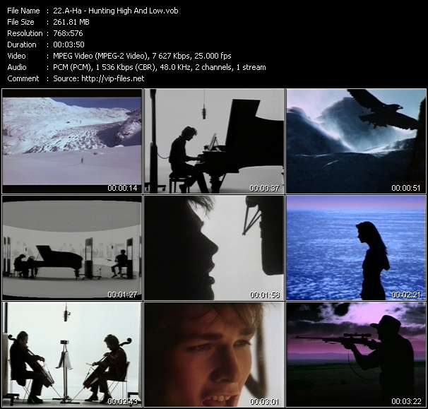 A-Ha video - Hunting High And Low