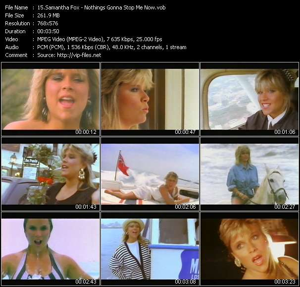 Samantha Fox video - Nothings Gonna Stop Me Now