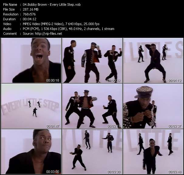 Bobby Brown video - Every Little Step