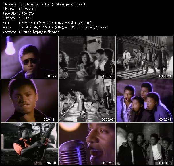 Jacksons HQ Videoclip «Nothin' (That Compares 2U)»