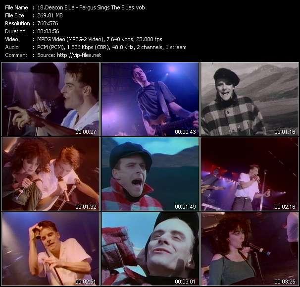 Deacon Blue video - Fergus Sings The Blues