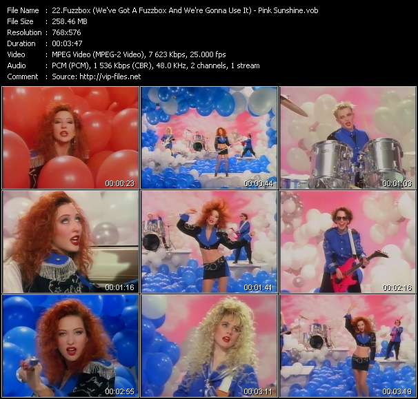 Fuzzbox (We've Got A Fuzzbox And We're Gonna Use It) video - Pink Sunshine