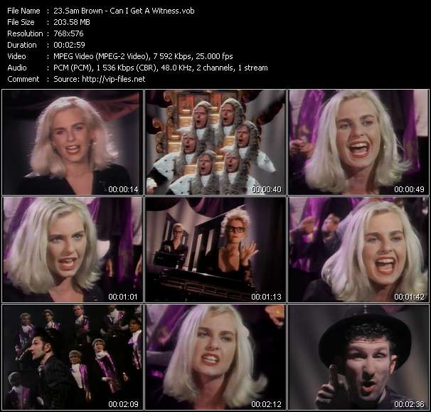 Sam Brown video - Can I Get A Witness