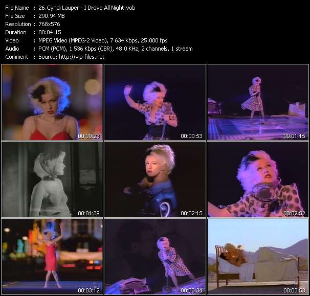 Cyndi Lauper video - I Drove All Night