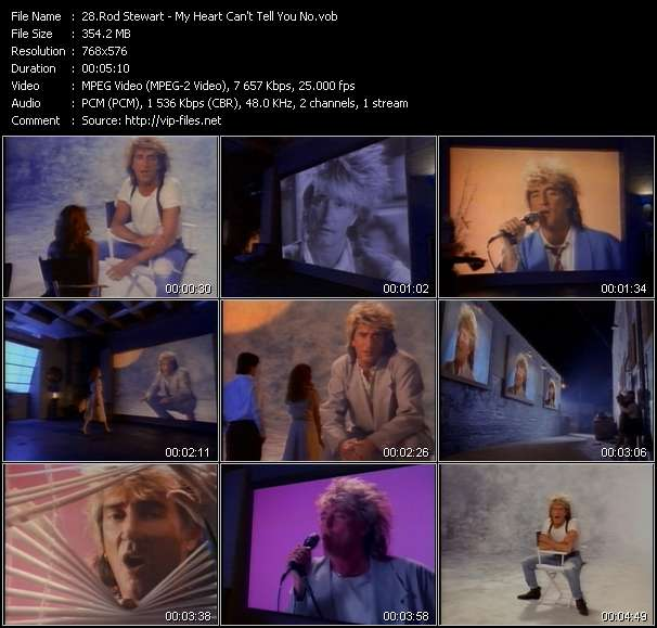 Rod Stewart video - My Heart Can't Tell You No