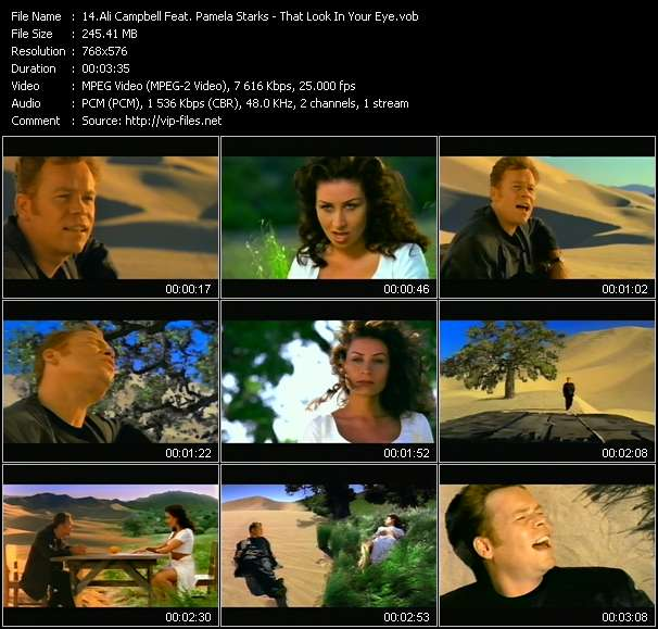 Ali Campbell Feat. Pamela Starks HQ Videoclip «That Look In Your Eye»