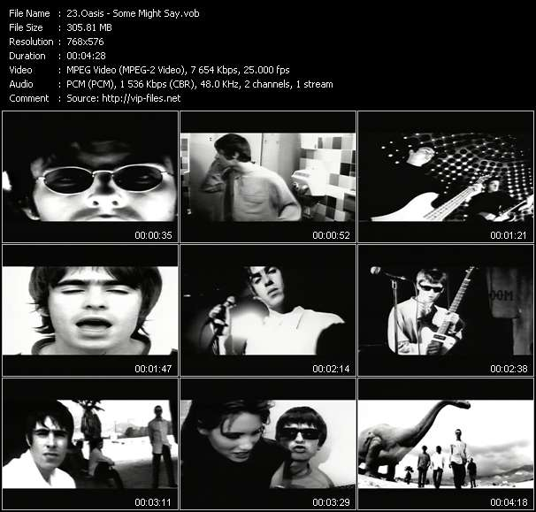 Oasis video - Some Might Say