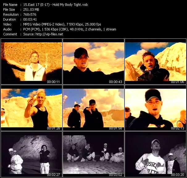 East 17 (E-17) video - Hold My Body Tight