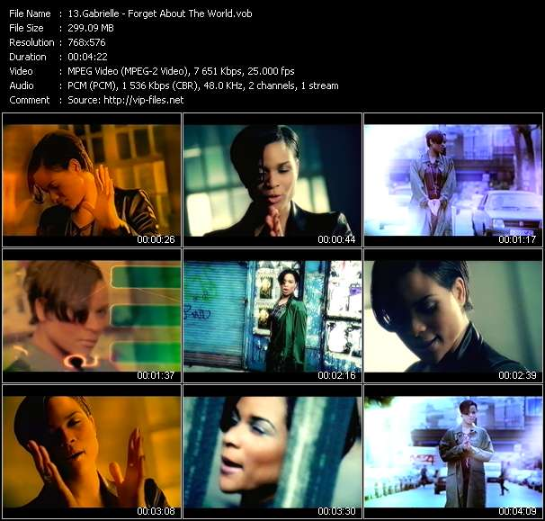 Gabrielle video - Forget About The World