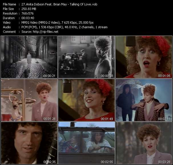 Anita Dobson Feat. Brian May video - Talking Of Love