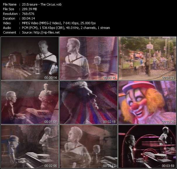 Erasure HQ Videoclip «The Circus»