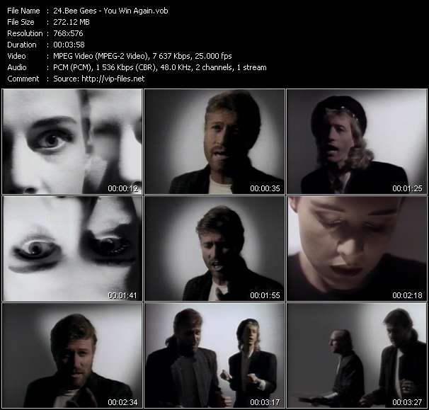 Bee Gees HQ Videoclip «You Win Again»