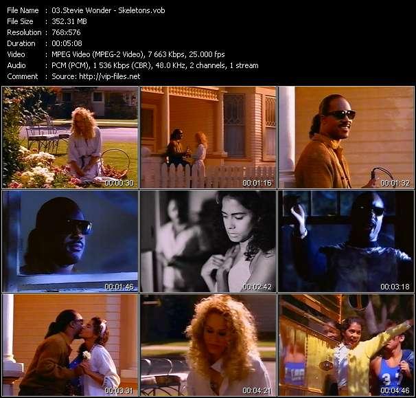 Stevie Wonder video - Skeletons