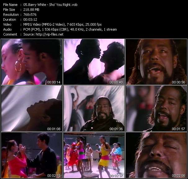 Barry White video - Sho' You Right