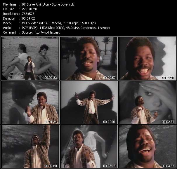 Steve Arrington video - Stone Love