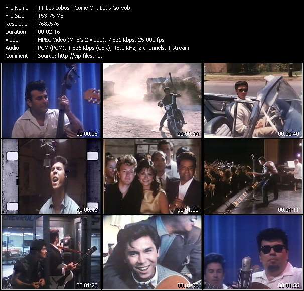 Los Lobos video - Come On, Let's Go