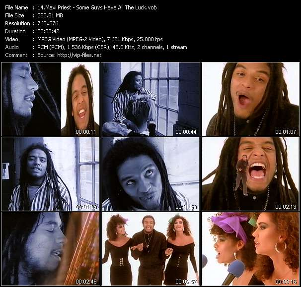Maxi Priest video - Some Guys Have All The Luck