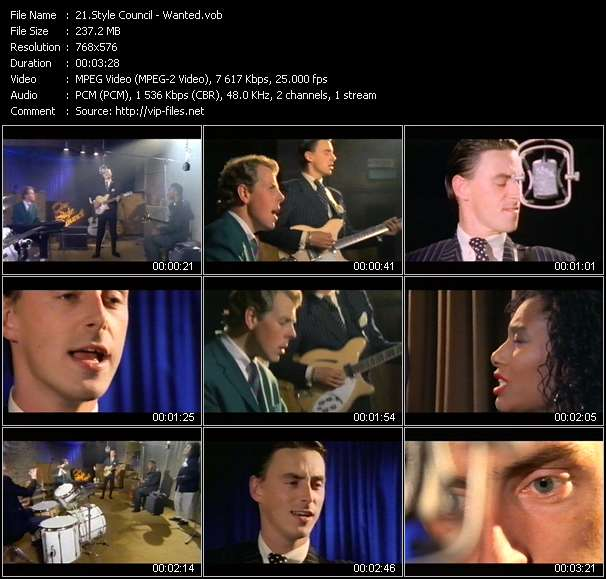 Style Council video - Wanted