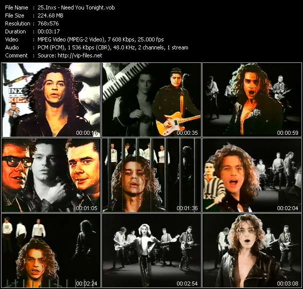 Inxs video - Need You Tonight