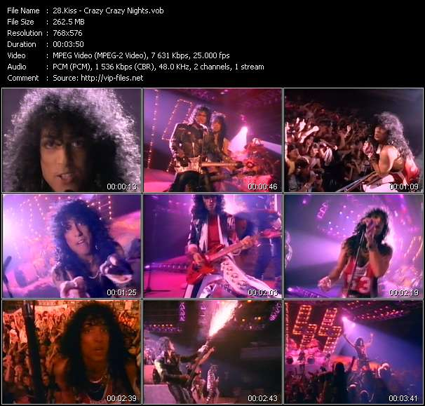 Kiss video - Crazy Crazy Nights