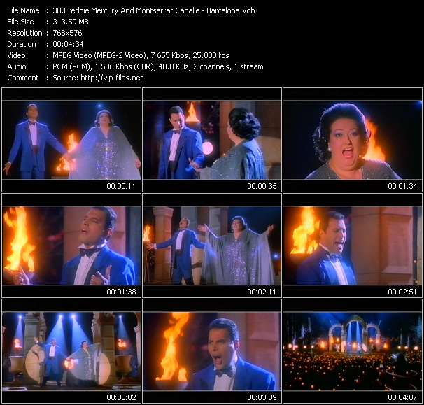 Freddie Mercury And Montserrat Caballe video - Barcelona