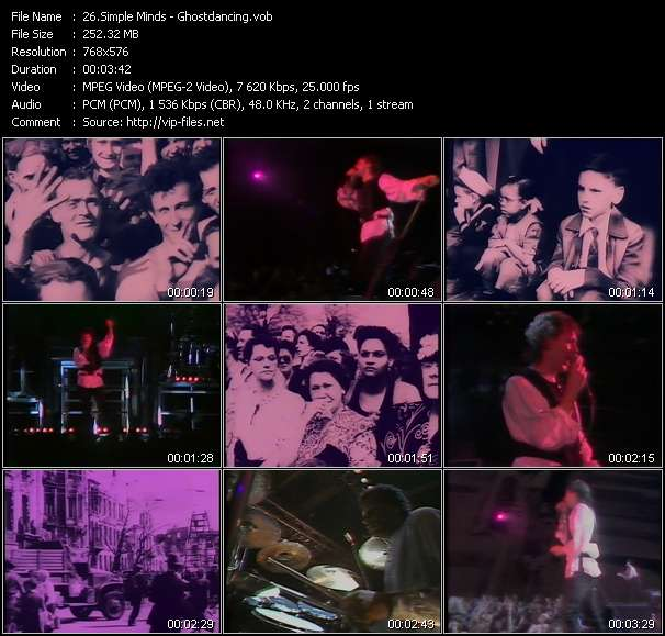 Simple Minds HQ Videoclip «Ghostdancing»