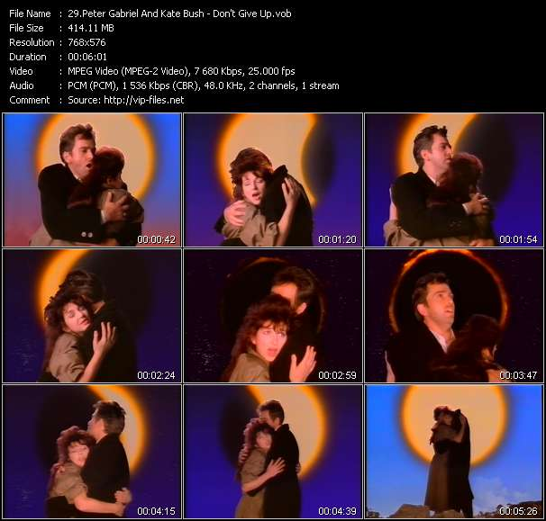 Peter Gabriel And Kate Bush HQ Videoclip «Don't Give Up»