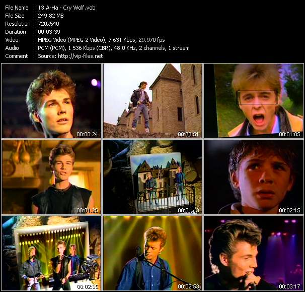 A-Ha video - Cry Wolf