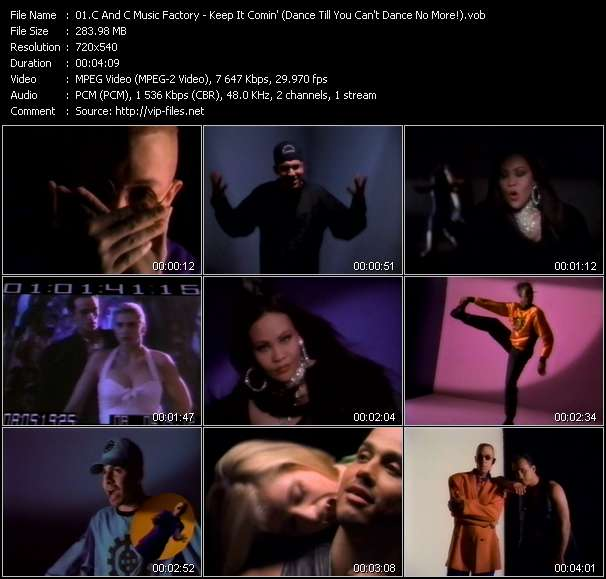 C And C Music Factory Feat. Q-Unique And Deborah Cooper video - Keep It Comin' (Dance Till You Can't Dance No More!)