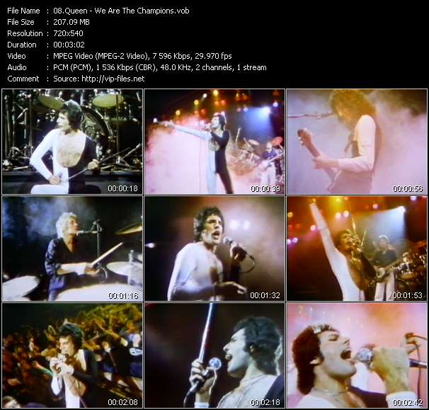 Queen video - We Are The Champions