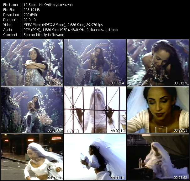 Sade video - No Ordinary Love