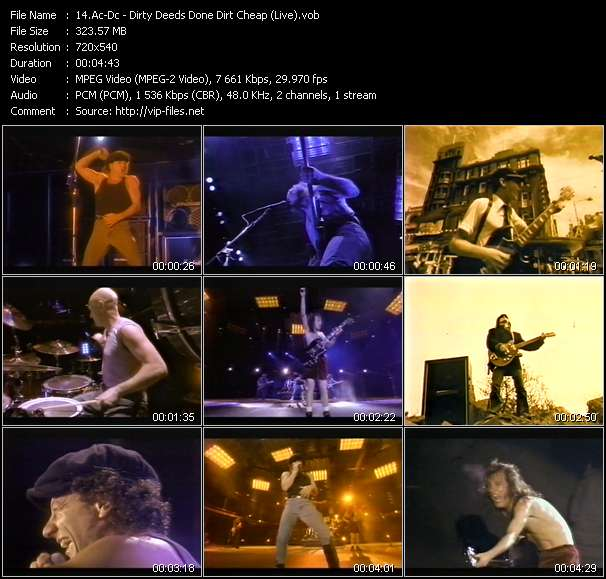 Ac-Dc video - Dirty Deeds Done Dirt Cheap (Live)