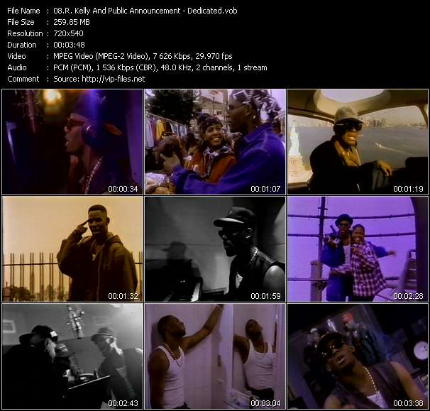R. Kelly And Public Announcement video - Dedicated