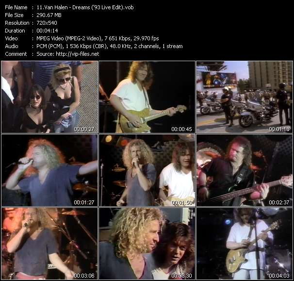 Van Halen video - Dreams ('93 Live Edit)