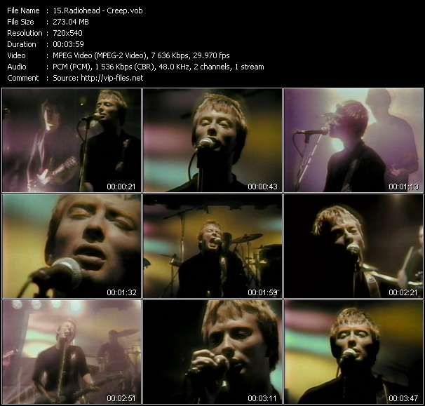 Radiohead video - Creep
