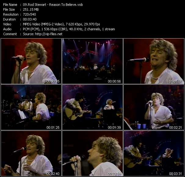 Rod Stewart video - Reason To Believe
