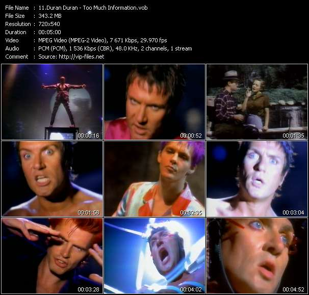 Duran Duran video - Too Much Information