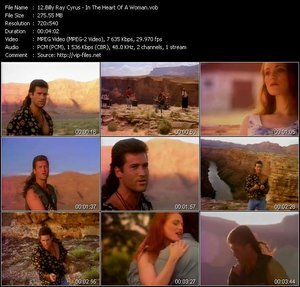 Billy Ray Cyrus video - In The Heart Of A Woman