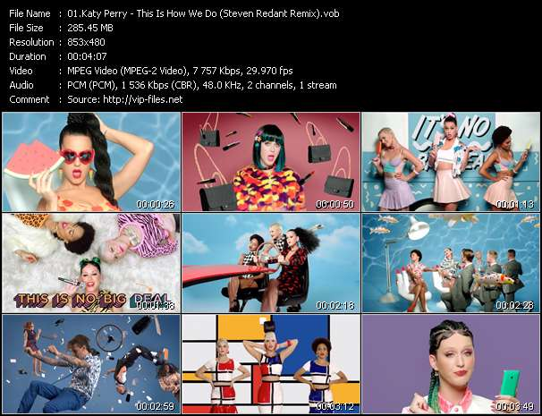 Katy Perry video - This Is How We Do (Steven Redant Remix)