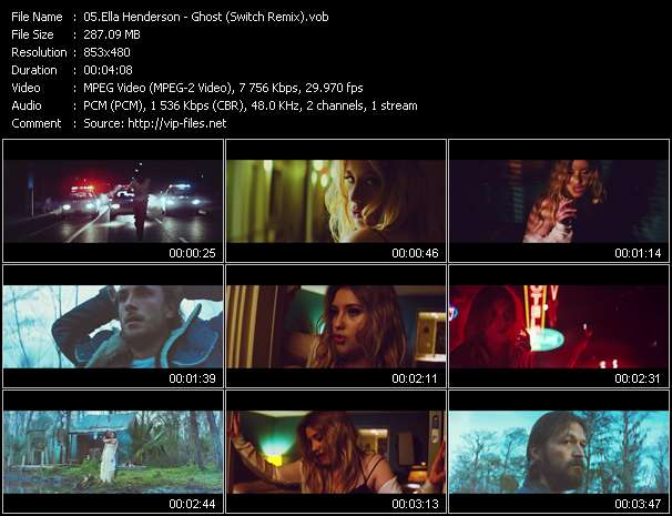 Ella Henderson video - Ghost (Switch Remix)