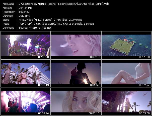 Basto Feat. Maruja Retana video - Electric Stars (Alvar And Millas Remix)