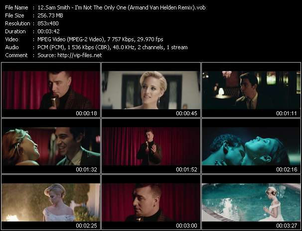 Sam Smith video - I'm Not The Only One (Armand Van Helden Remix)