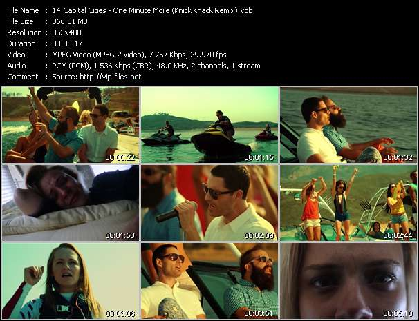 Capital Cities HQ Videoclip «One Minute More (Knick Knack Remix)»
