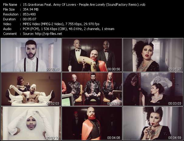 Gravitonas Feat. Army Of Lovers HQ Videoclip «People Are Lonely (SoundFactory Remix)»