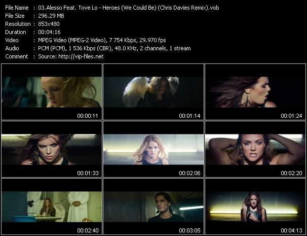 Alesso Feat. Tove Lo video - Heroes (We Could Be) (Chris Davies Remix)