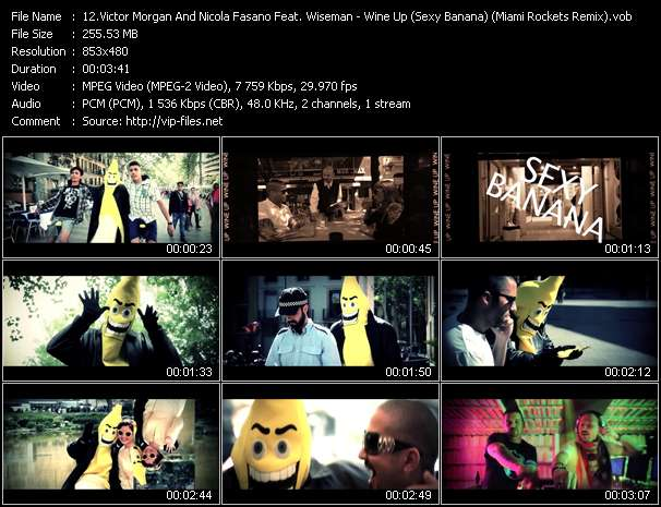 Victor Morgan And Nicola Fasano Feat. Wiseman HQ Videoclip «Wine Up (Sexy Banana) (Miami Rockets Remix)»