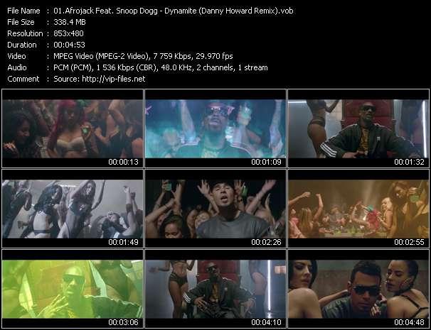 Afrojack Feat. Snoop Dogg HQ Videoclip «Dynamite (Danny Howard Remix)»