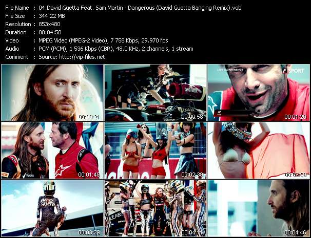 David Guetta Feat. Sam Martin HQ Videoclip «Dangerous (David Guetta Banging Remix)»