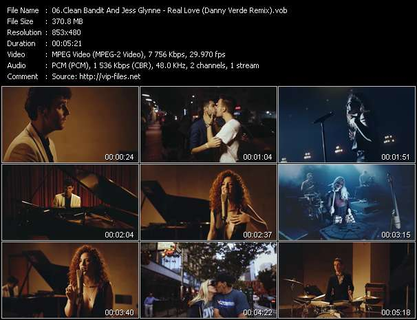 Clean Bandit And Jess Glynne HQ Videoclip «Real Love (Danny Verde Remix)»